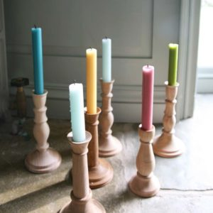 Wooden Candle Sticks True Grace Dinner Candle
