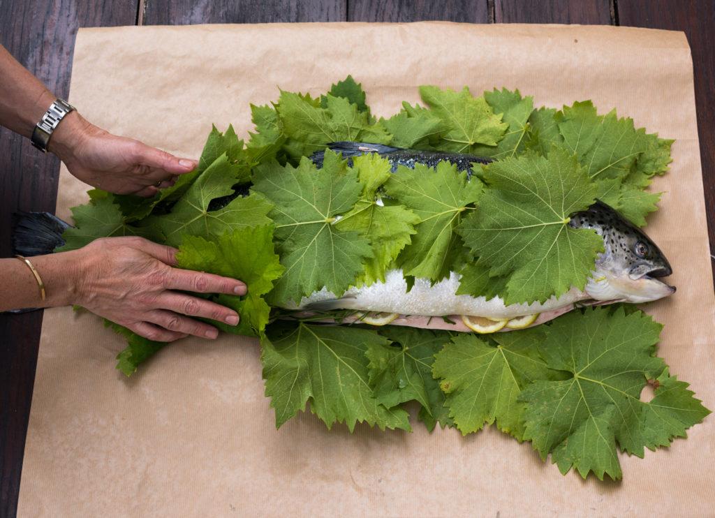 Pascale Smets' salmon recipe. Pascale Store/Pascale Smets - Nicolas Blandin/The Telegraph