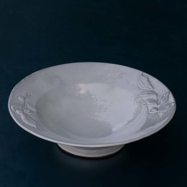 CORINNE DE HAAS EMBOSSED FLAT RIM BOWL MEDIUM