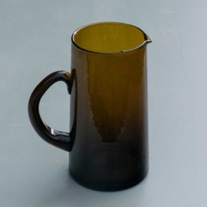 Brown recycled glass jug