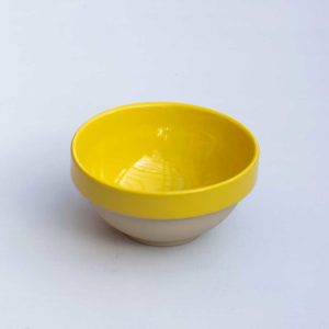 Ceramic Yellow kitchen cooking bowl serveware