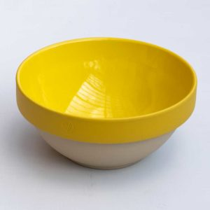 Large yellow kitchen mixing ceramic bowl