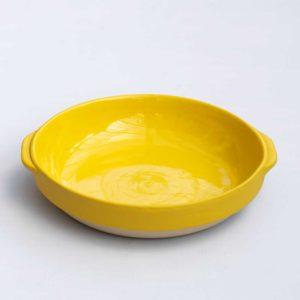 Digoin yellow ceramic serveware dish