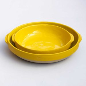 digoin small yellow ceramic dish