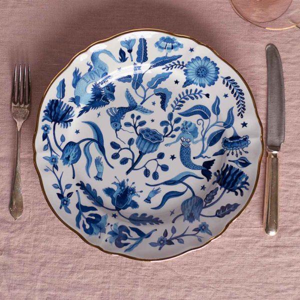 Bitossi blue decorative plate