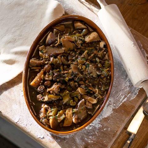 Cassoulet in Digoin Sabot dish