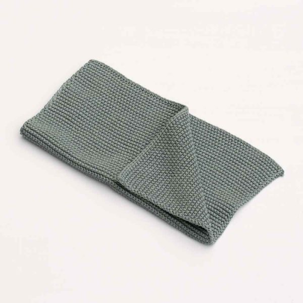KNITTED MOSS GREEN DISH CLOTH PASCALE STORE