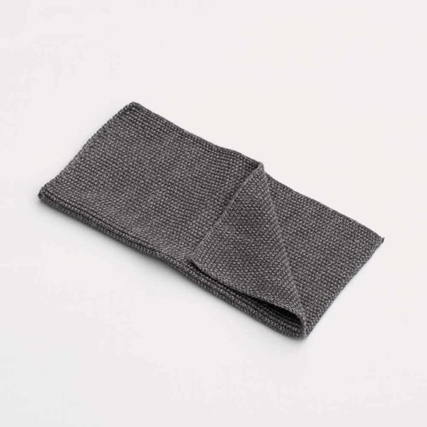 KNITTED GREY DISH CLOTH