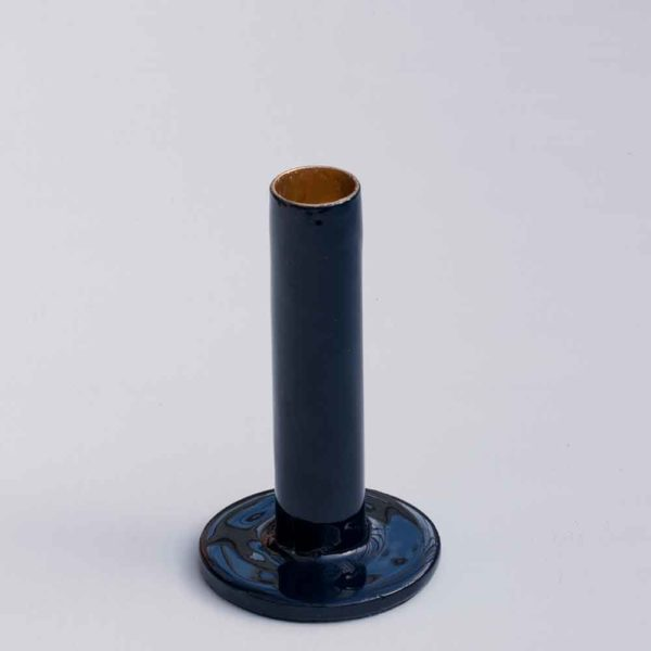 MEDIUM NAVY CANDLE HOLDER PASCALE STORE