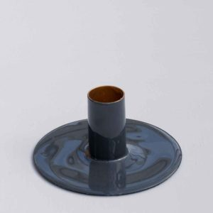 SMALL GREY CANDLE HOLDER PASCALE STORE