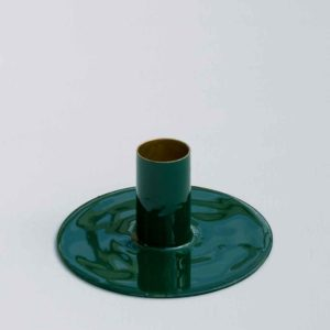 SMALL GREEN CANDLE HOLDER PASCALE STORE