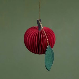 red paper apple ornament