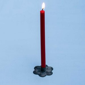 Taper candles in flower candle holder pascale store