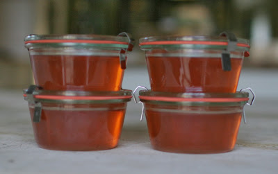 crab apple jelly in jars from pascale store