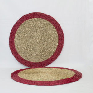 Red rimmed placemat