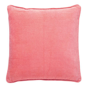 Blossom pink velvet cushion
