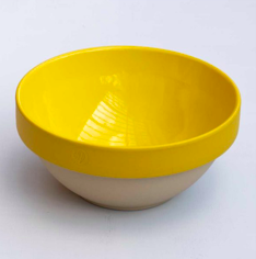 a Yellow rimmed bowl from Digoin/Pascale Store