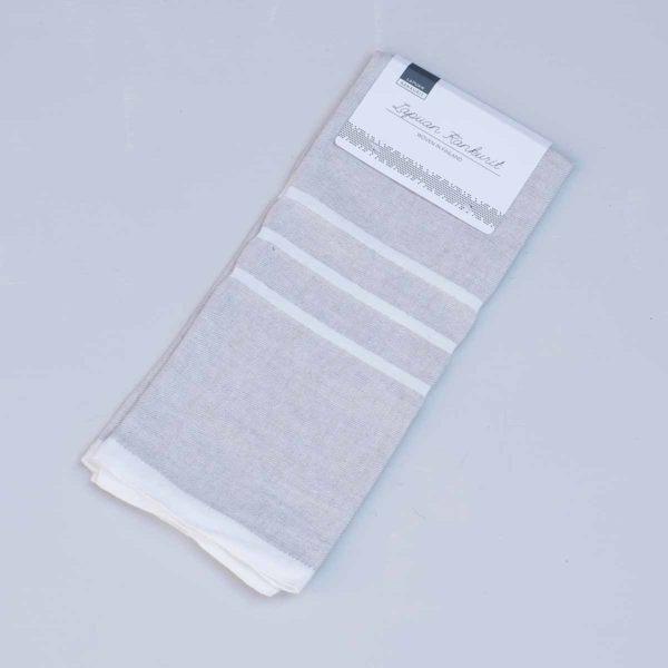 LAPUAN KANKURIT Hand Towel Natural/White Stripe_1