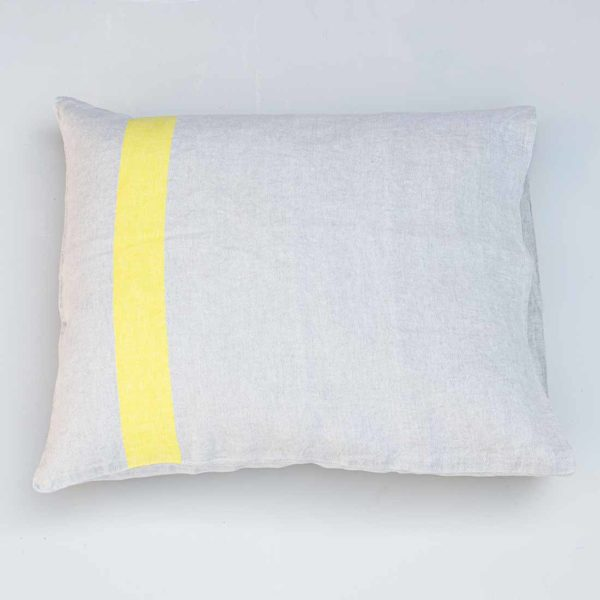 LAPUAN KANKURIT BEIGE AND YELLOW CUSHION COVER_1