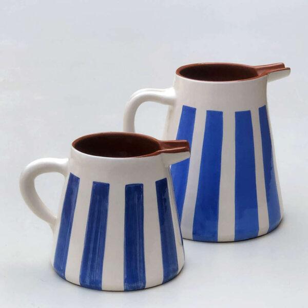 blue pitchers