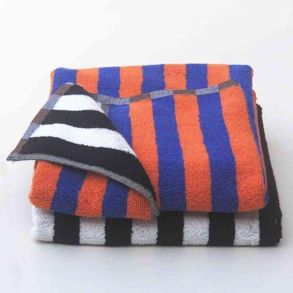 orangeblueblackwhite towel